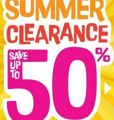 Summer clearance 50 percet